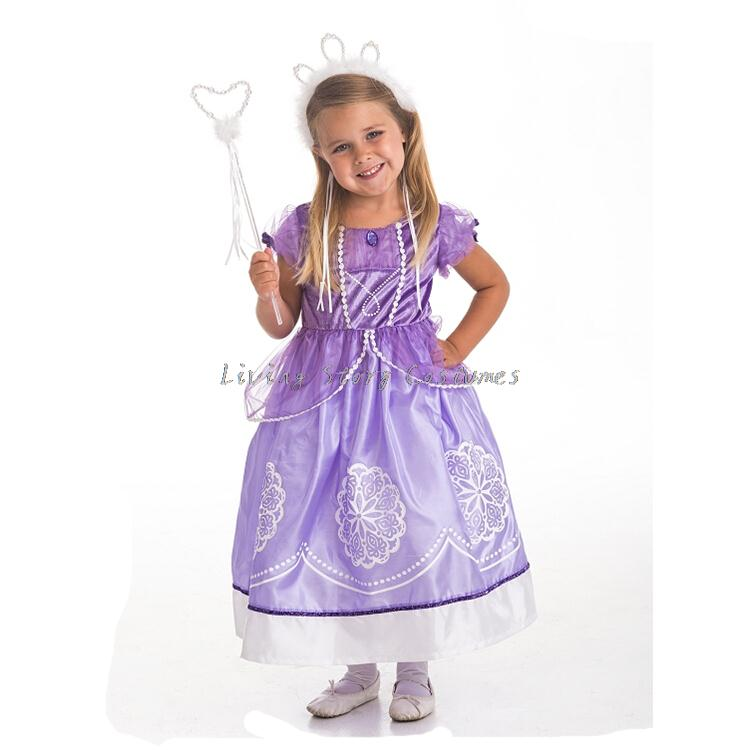 Retail Sofia the first girls princess dress Halloween carnival costumes for Kids Childu0027s Christmas fantasia fantasy party dress-in Kids Costumes ...  sc 1 st  AliExpress.com & Retail Sofia the first girls princess dress Halloween carnival ...