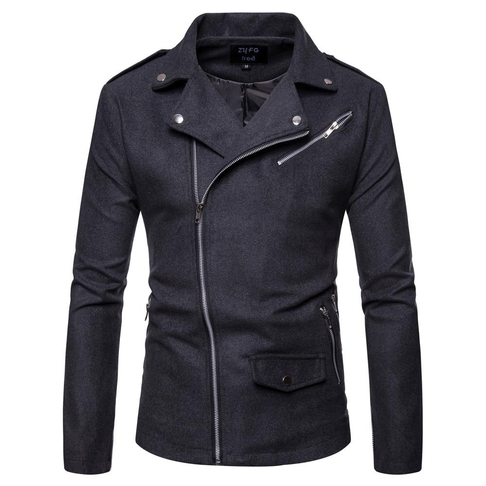 2019 Männer Neue Mantel Männer Formale Diagonal Ziehen Britischen Mantel Lange Wolle Mantel Windbreaker Männer Mantel