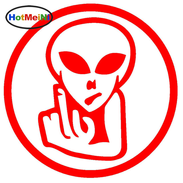 Hotmeini Creatures From Outer Space 30d Alien Bird Flipping Off Car