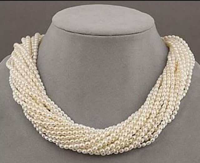 New Design 12 strands real charming + south sea white pearl necklace 18""