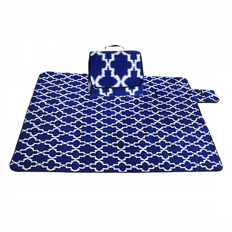 Image 5 - Outdoor Moistureproof Beach Blanket Mat Foldable Camping Mat Pad Picnic Mat Pad Blanket Indoor Baby Crawling Blanket Pad-in Camping Mat from Sports & Entertainment