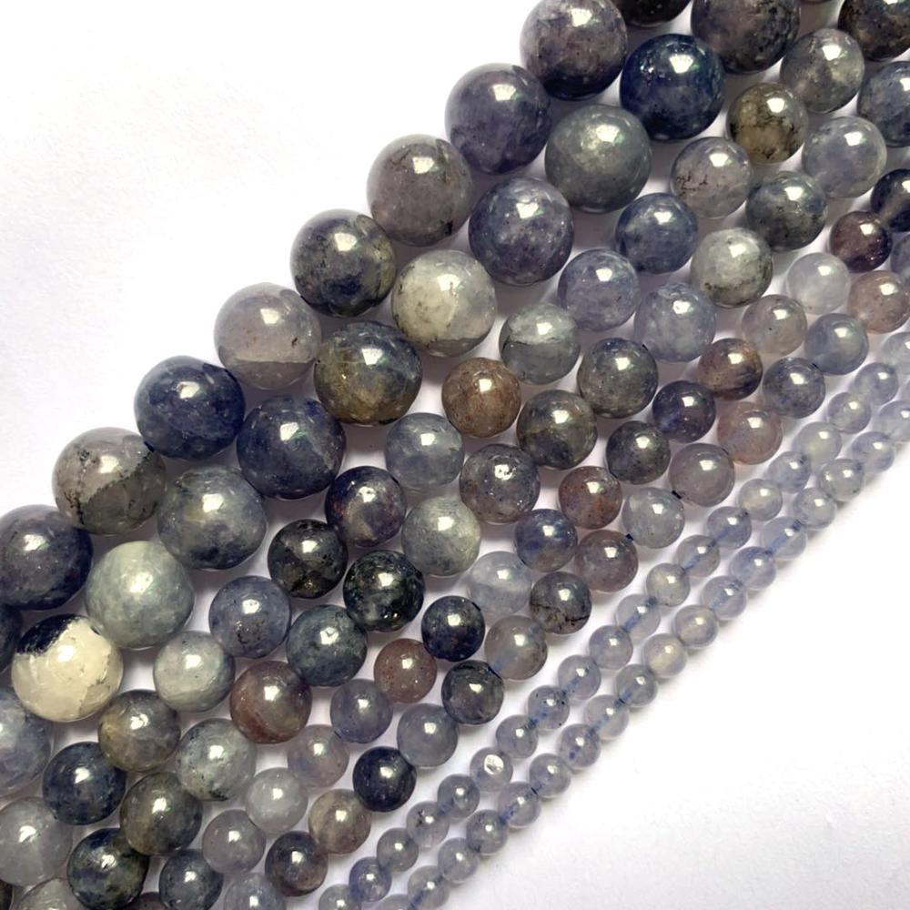 Natural Lolite Stone Beads Natural Gemstone Beads DIY Loose Beads For Jewelry Making Strand 15