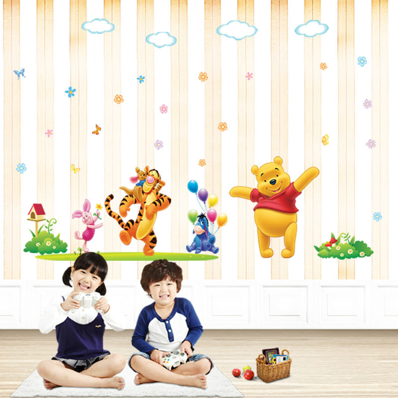 Cute Cartoon Animal Vinyl Wall Stickers For Kids Room Bathroom Furniture  Decoration Mirror Art Large Wallpaper ... Part 89