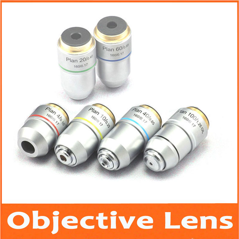 New 4X 10X 20X 40X 60X 100X L=195 Optical Bio-Microscope Biological Microscope Plan Achromatic Objective Lens 20.2x0.705mm brand new microscope achromatic objective lens 4x 10x 40x 100x set free shipping page 8