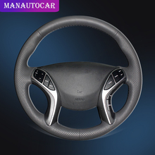Car Braid On The Steering Wheel Cover for Hyundai Elantra 3 2011-2016 Sport Avante 2011 i30 Auto