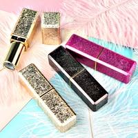 30pcs 50pcs 12 1mm New Arrival High Class Empty Lipstick Tubes Square Plastic Gold Pink Grey