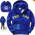 SY051 Frete Grátis Novo 2014 Factory Outlet Crianças Casacos Meninos Jaqueta de Moletom Com Capuz Outono & Inverno Dos Desenhos Animados Crianças Outerwear Retail