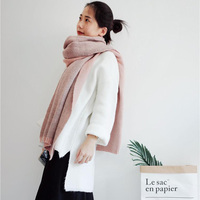 New Women Fashion Winter Scarf Wool Knitted Scarves Shawls Women Thick Warmer Cowl Neck Winter Pashmina