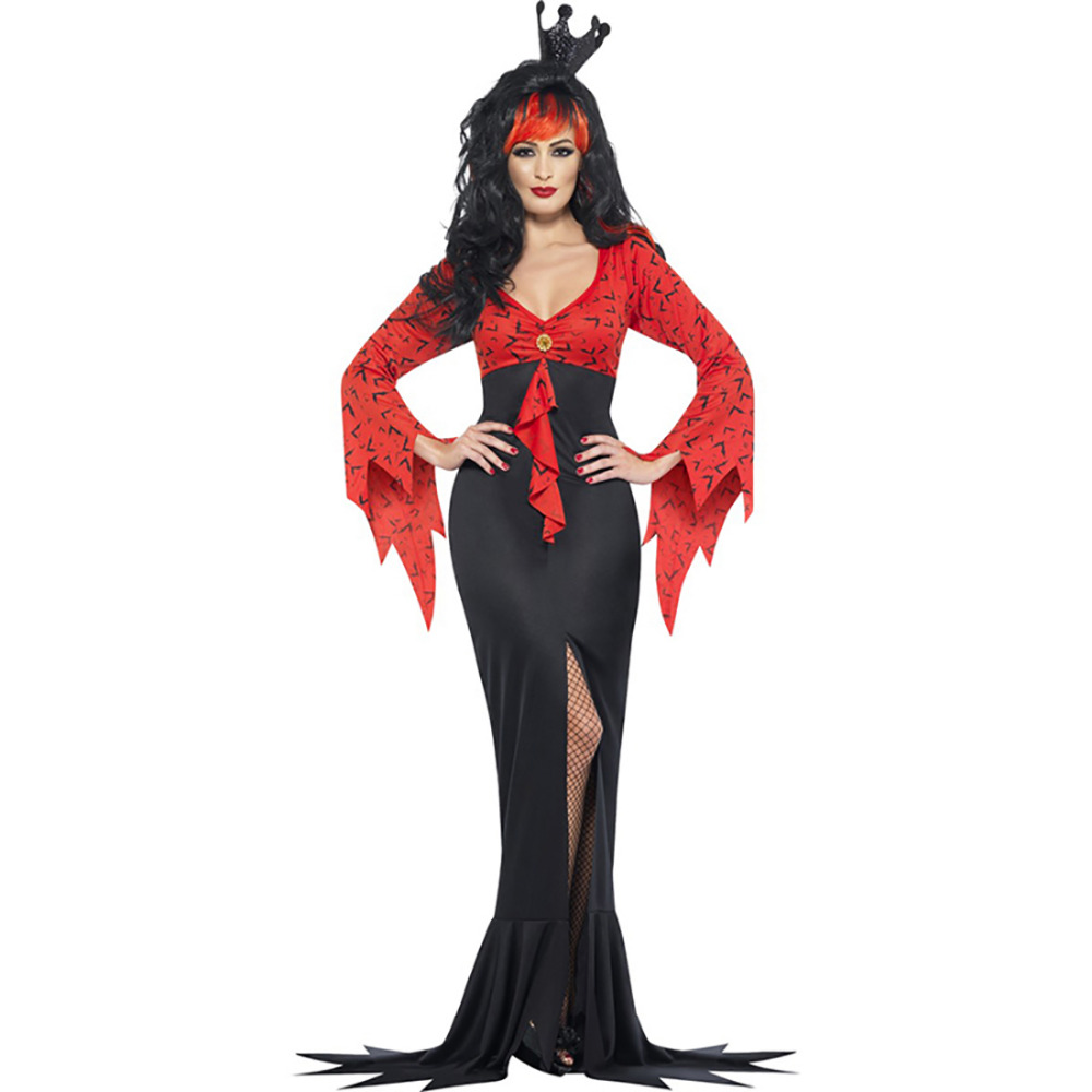 Evil Queen Wicked Witch Costume Gypsy Style Red and Black Floor length Dress Halloween Costumes for Women on Aliexpress.com | Alibaba Group  sc 1 st  AliExpress.com & Evil Queen Wicked Witch Costume Gypsy Style Red and Black Floor ...