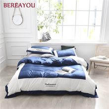 Luxury Bedding Sets Ice Silk Summer Bed Sheet For Kids Adult Blue White Duvet Cover Pillowcase Hotel Home King Wedding