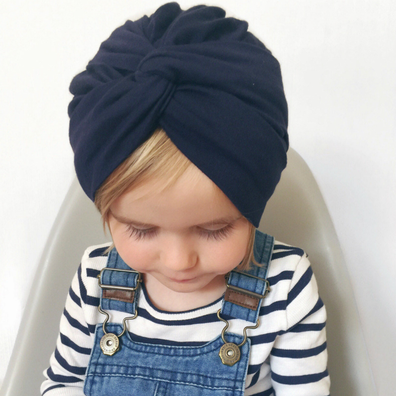 ON SALE 1pcs Chosen Girls Soft Cotton Turban Cross Knot Cap Beanie Hat Bohemian India Hat Winter Children's Caps Free Shipping