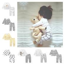 Детские теплые пижамы, пижамы, Детская одежда, милые хлопковые Пижамные комплекты, одежда для сна, детские пижамы, BCC003-1