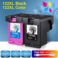 2pcs Ink Cartridge For HP 122XL HP122XL CH563HE CH564HE For HP Deskjet 1000 1050 2000 2050