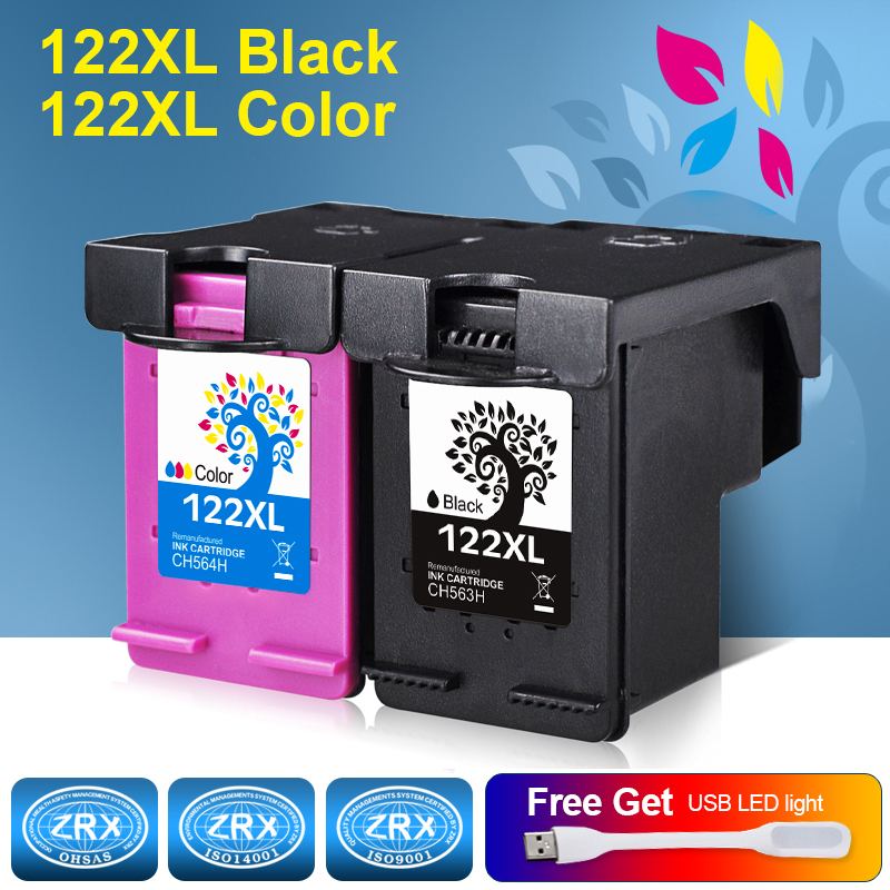 2pcs Ink Cartridge Compatible for HP 122 XL for HP Deskjet 1000 1050 2000 2050 2050s 3000 3050A 3052A 3054 1010 1510 2540 линзы контактные adria color tone 2 квартальные 2 шт 8 6 14 2 amethist 4 5 1 упак