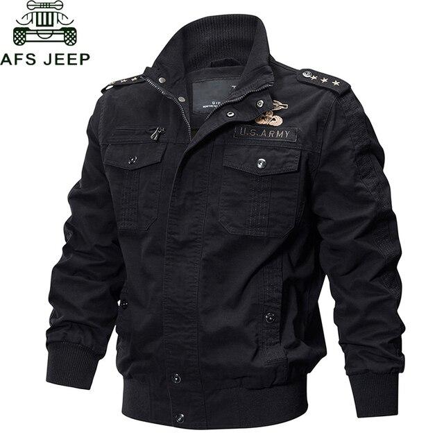 AFS JEEP Military Jacket Men Spring Autumn Cotton Male Casual Air Force Flight Jackets hombre Plus Size M-6XL Bomber Jacket Men