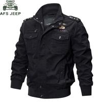 AFS JEEP Military Jacket Men Spring Autumn Cotton Male Casual Air Force Flight Jackets hombre Plus Size M 6XL Bomber Jacket Men