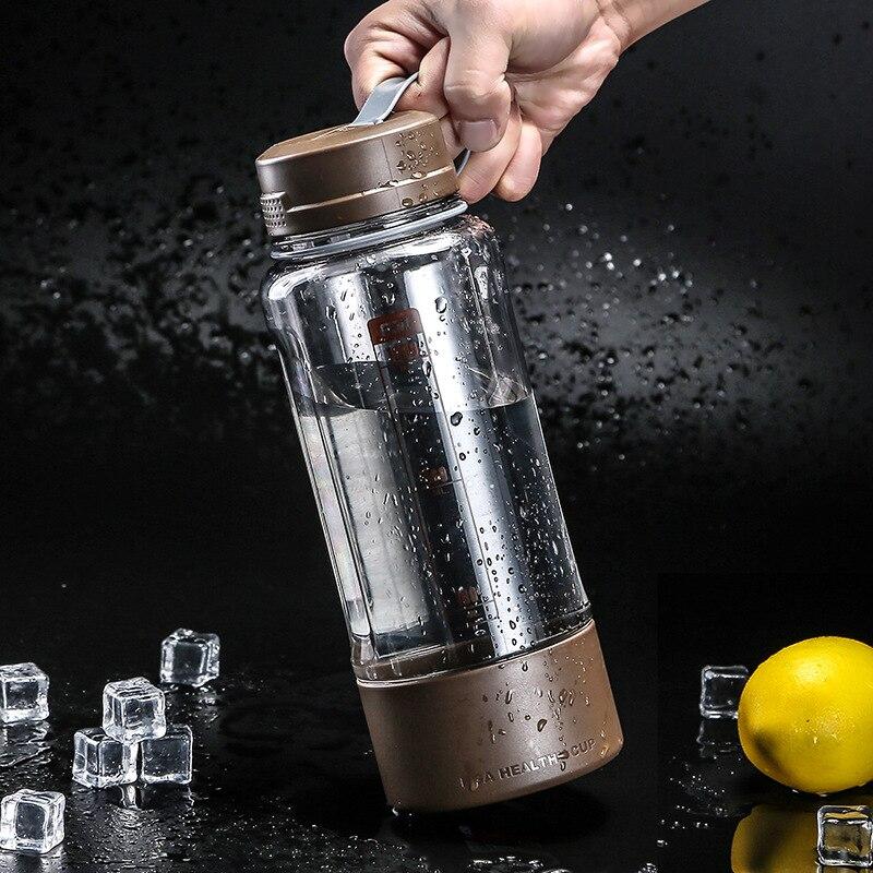 חותם דליפת הוכחה נייד ידידותית לסביבה 1000 ML פלסטיק Drinkware כוס קמפינג נסיעות ספורט אופניים בקבוק מים בקבוק ספל קפה