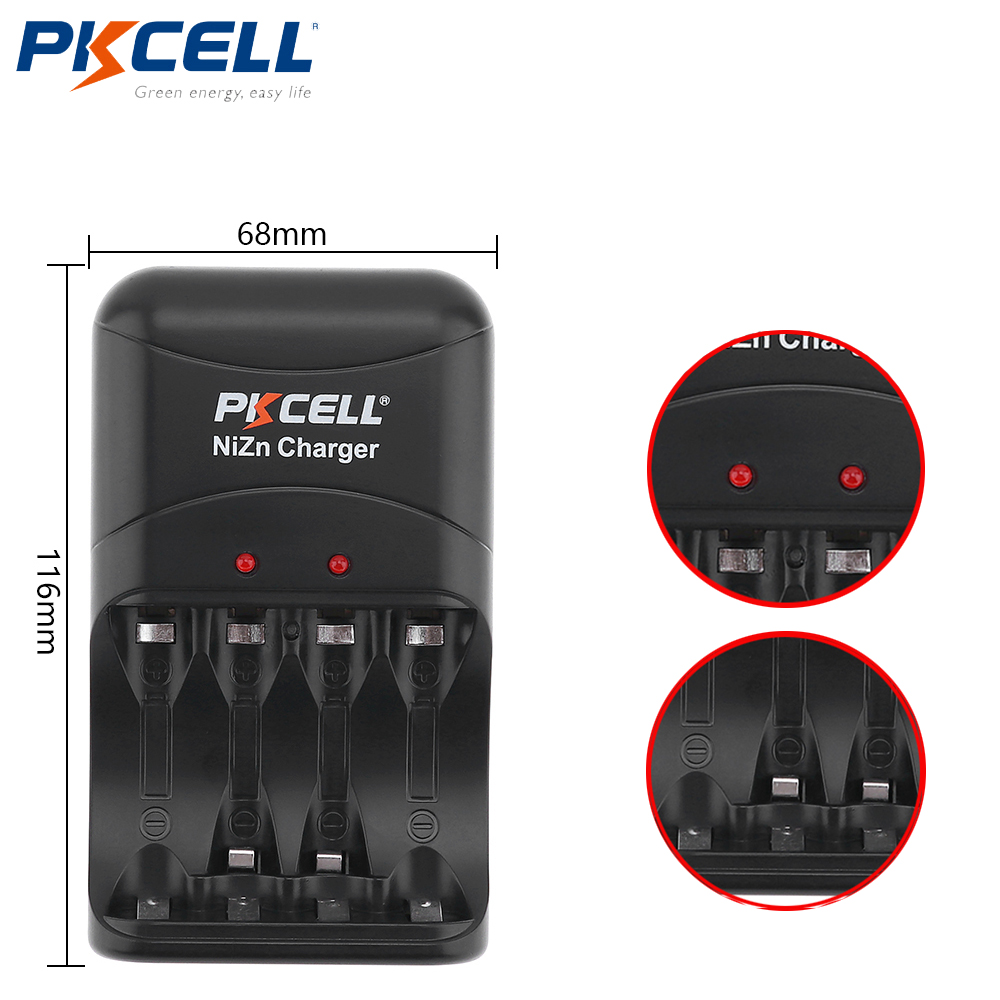 1Pc hot quality EU plug NIZN Battery Charger 8186 Charge 2 to 4pcs AA/AAA 1.6V Ni-Zn Rechargeable Battery charger free shipping