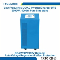 I P SP 6000VA Pure Sine Wave Inverter Charger UPS 4000W With AVR Home Solar Power