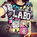 Размер 9 ~ 18 12 13 14 лет дети футболки девушки характер детская одежда подросток дешевые печати топы для девочек