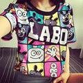 Tamanho 9 ~ 18 12 13 14 anos de idade as crianças t-shirt das meninas adolescentes de roupas caráter crianças baratos impressão crianças tops para as meninas