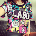 size 9~18 12 13 14 years old kids t-shirt girls character children clothing teenage cheap print kids tops for girls