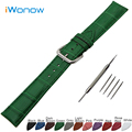 Croco Genuine Leather Watch Band 22mm for Samsung Gear S3 Classic / Frontier Stainless Steel Buckle Strap Wrist Belt Bracelet