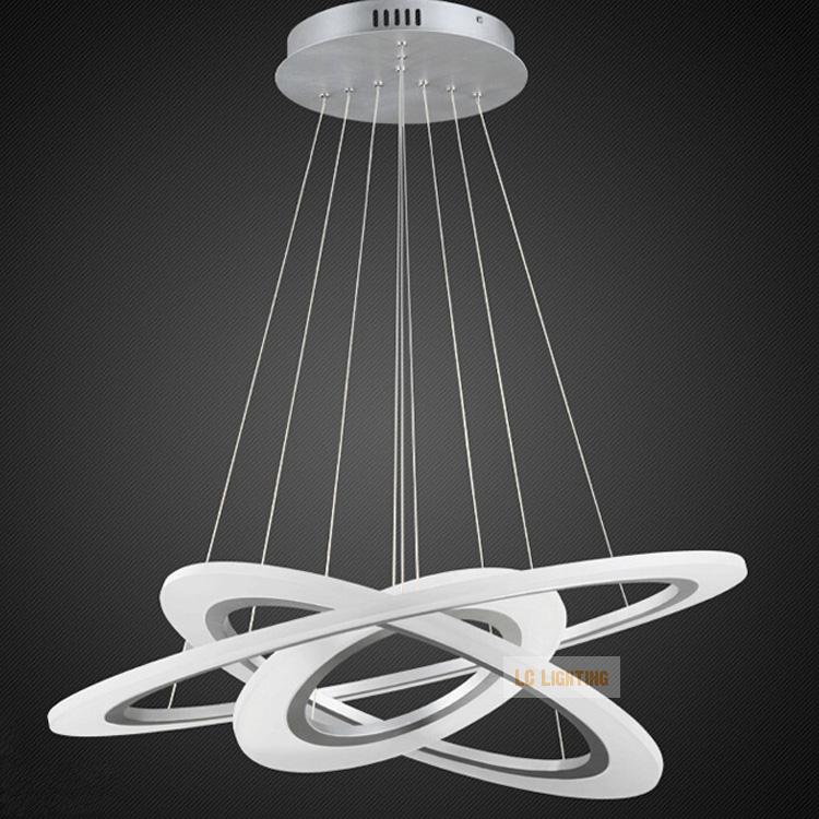 Circle Ring Led Modern Chandelier Light Fixture Acrylic Hanging Lamp Lighting Stair Lights Lc 89 Fast Shipping In Pendant From