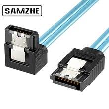 SAMZHE SATA III 6.0 6gbps כבל עם תפס נעילה עבור Hdd SSD DVD מחשב מחשב כבל נתונים 50/100cm