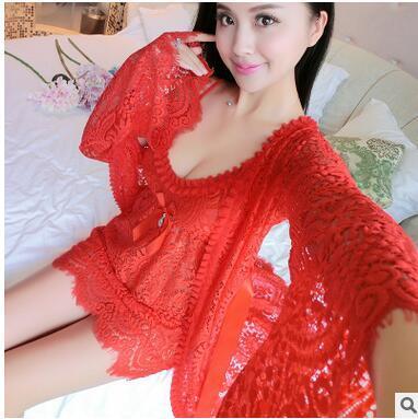 Summer Elegant sleepwear robe and gown evening