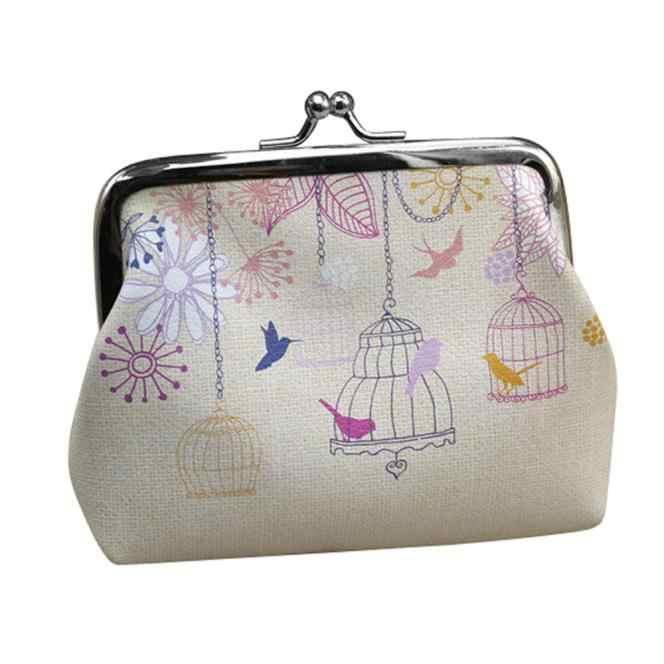 Bird cage PU leather coin purse Womens Wallet Card Holder Coin Purse Clutch Handbag New Womens Wallets