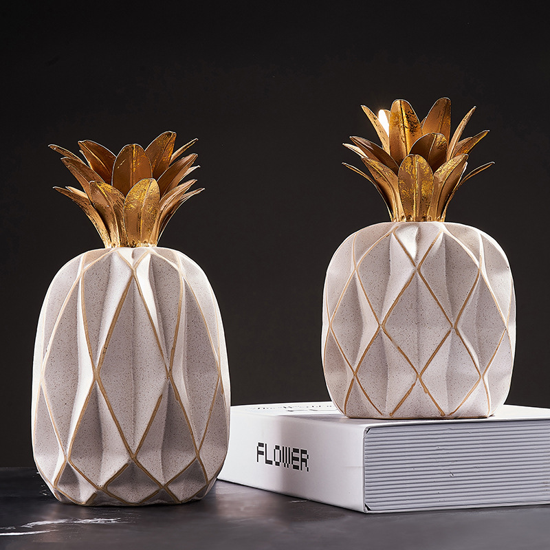 Nordic House Ornament Ceramic Pineapple Decoration Self-importance Workplace Residing Room Equipment Artistic Collectible figurines For Bar Cupboard Home Collectible figurines & Miniatures, Low cost Collectible figurines & Miniatures, Nordic...