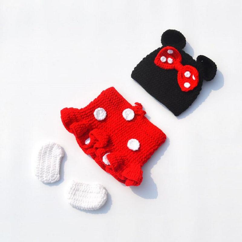Recién Nacido Minnie crochet outfit bebé punto Beanie y Faldas niño ...
