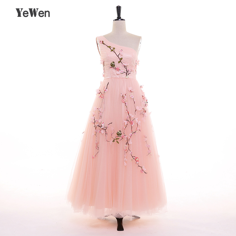 Ankle Length Tulle Prom Dresses
