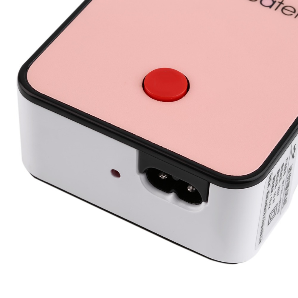 Hot Handheld Mini Heater Desktop Heater Electric Heater Portable Office-pink Durable