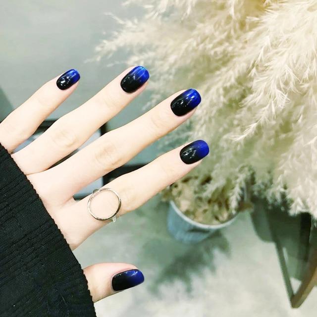 Aliexpress.com: Comprar Elegante negro y azul gradual color puro ...