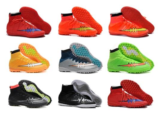 2015 botines de fútbol botas hombre Superfly IC TF zapatos de futbol sala  para hombre botas de tobillo zapatos de fútbol 860177b3cdc25