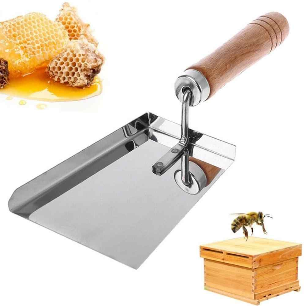 Пчелиная Лопата пчеловодства принадлежности для пчеловодства разворачивающая вилка железная медовая Расческа нож-скребок для пчеловодов деревянная ручка нож-скребок для пчеловодов Лопата 5pz