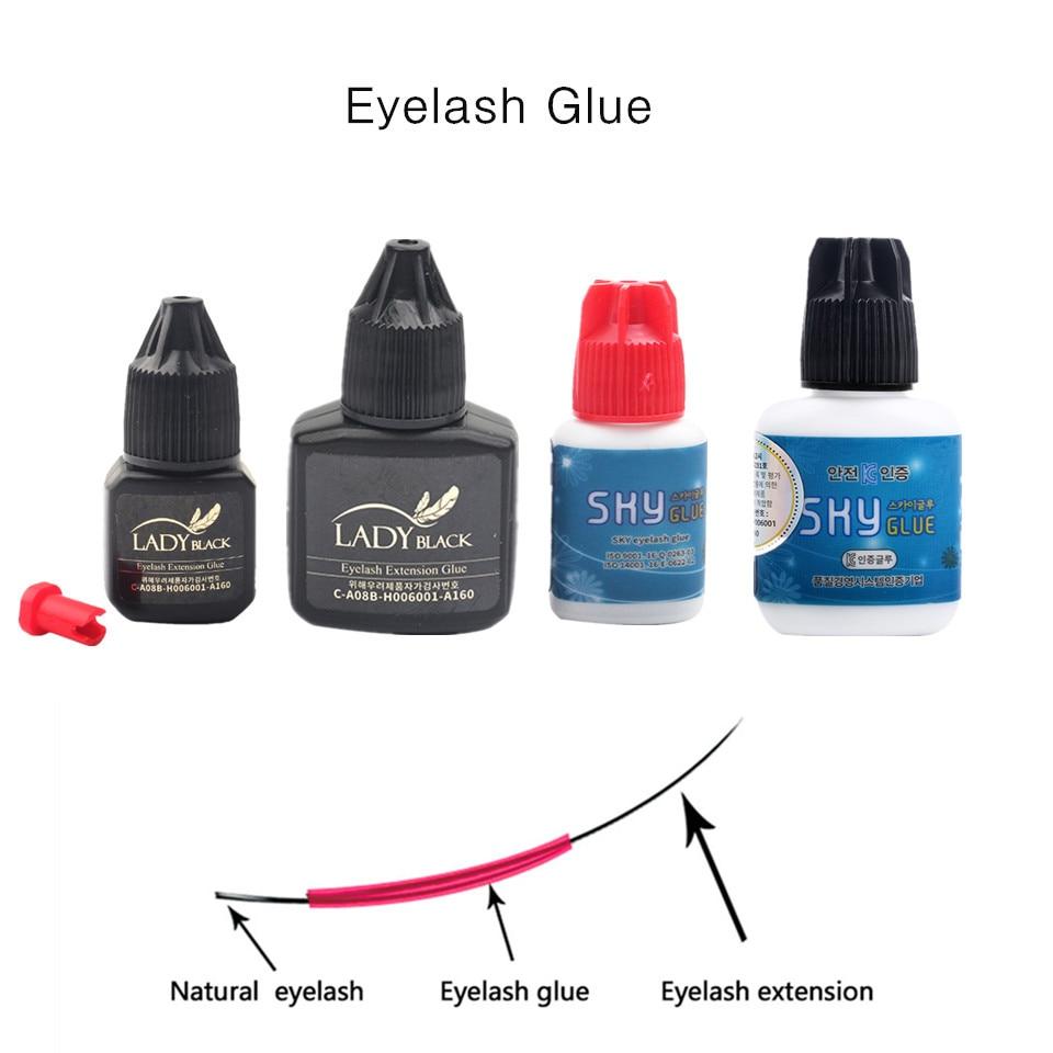 debbe853edd Super Strong Eyelash Extension Glue No Sensitive Lady Black Glue Black Cap  Red Cap SKY Glue Adhesive Lash False Eyelash Glue