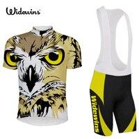 Zwykły tanie jazda na rowerze jersey i bib shorts set/hurtownia puste kompresji odzieży Sowa krótkim rękawem odzież rowerowa bike 5504
