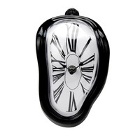 Creative Block Twisting Clock Digital Retro Distortion Irregular Clock 2017 Bending Wall Clock Watch Craft Home