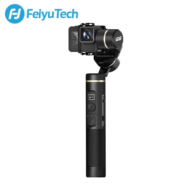 FeiyuTech G6 salpicaduras cardán mano Feiyu Cámara de Acción Wifi + Bluetooth + pantalla OLED ángulo de elevación para Gopro héroe 6 5 RX0