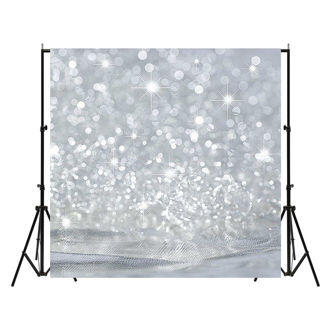 180x180cm Square Glowing Studio Photo Backdrop Photography Background Booth Props Silver Vinyl