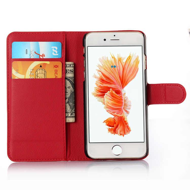 Di vibrazione del Cuoio Cassa Del Telefono Mobile Per il iphone 6 6 S 4.7 pollici ipone iphon Casi Della Copertura Del Raccoglitore per Apple iPhone6 Con Slot Per Schede di Guardia