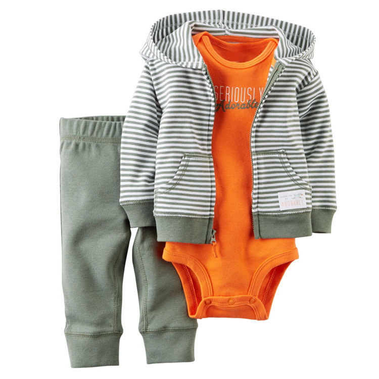 3Pcs Set Baby Brand Baby Baby Boy Girl Clothes Set Newborn Clothes Tops Sweater+Pants+bodysuit infant toddle girls outfit