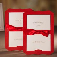 Free Shipping 50pcs Pack Elegant Wedding Invitation Card Free Printing Customized Convite Casamento Event Party Supplies