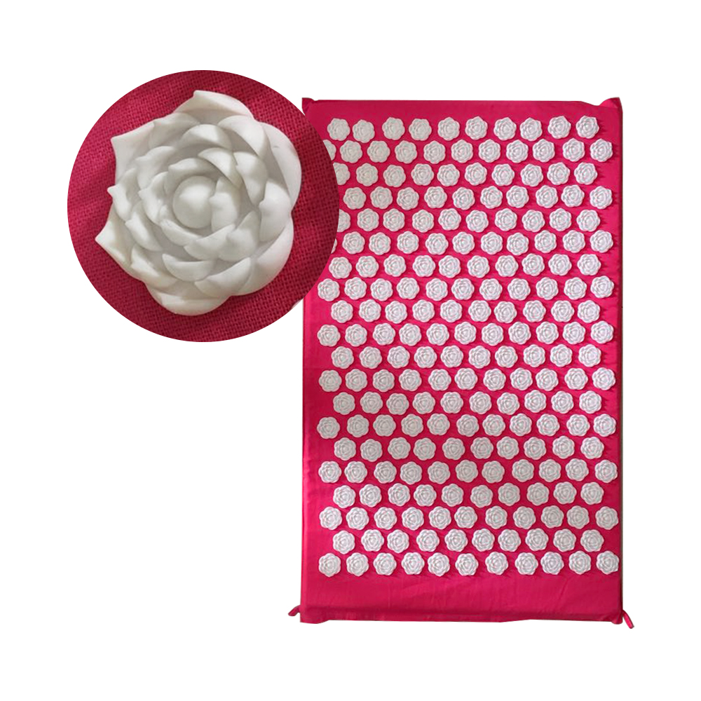 25nails/spike Acupressure Rose Shape Mat Shakti Mat Body Head Back Massage Pad Yoga Massager Relieve Mind Stress and Pain MP0068 acupressure yoga body massage mat
