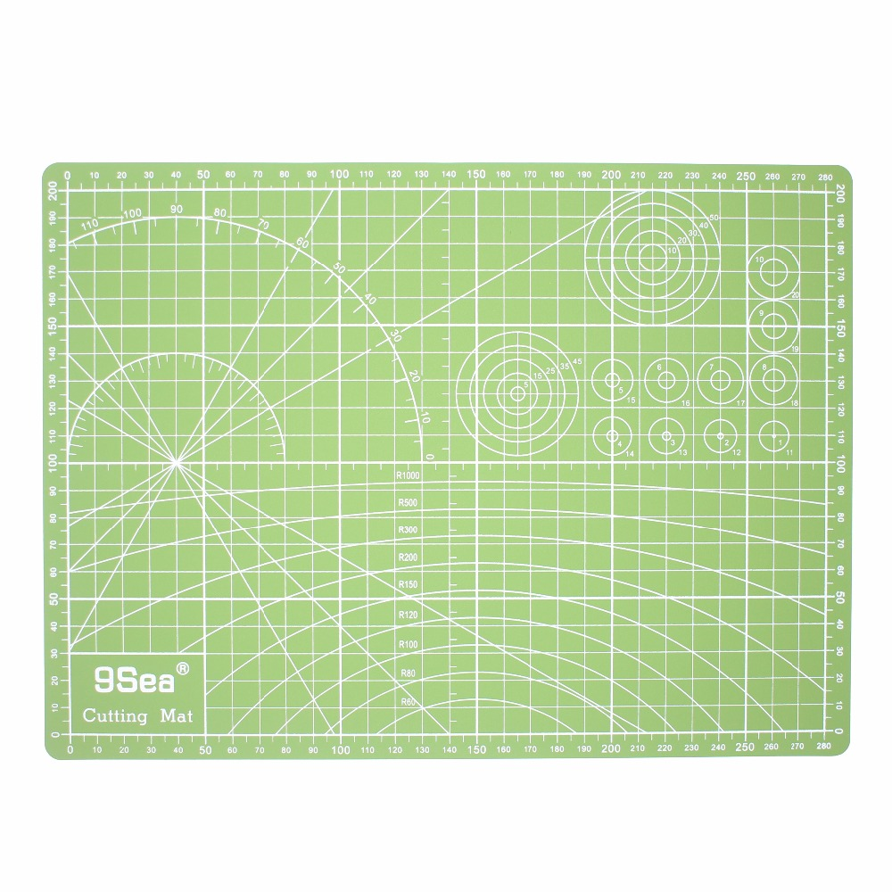 A4 Double Sided Colorful Cutting Mat Fabric Cutting Mat High Quality white core Cutting Board 22cm*30cm; Color Random alocs ac p03 outdoor foldable cutting chopping board white