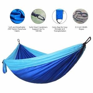 Image 2 - 300*200cm Ultra grand 2 3 personnes dormir Parachute hamac chaise Hamak jardin balançoire suspendu extérieur Hamacas Camping 118*78