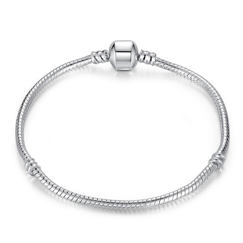 5 стиль 925 серебряных любовь цепи змейки и браслет 16 см- 21 см браслеты омар PA1104